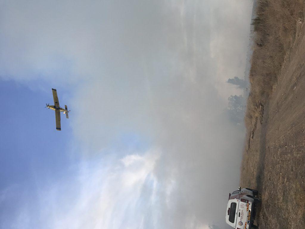 חשד לבלון תבערה בין ברכיה לכפר סילבר גרם לשריפה