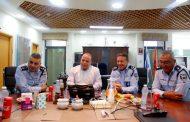 מפקד מחוז דרום במשטרה ניפגש עם ראש העיר
