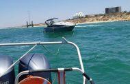 שוטרי השיטור הימי חילצו סירה רגע לפני התרסקותה על שובר הגלים באשקלון
