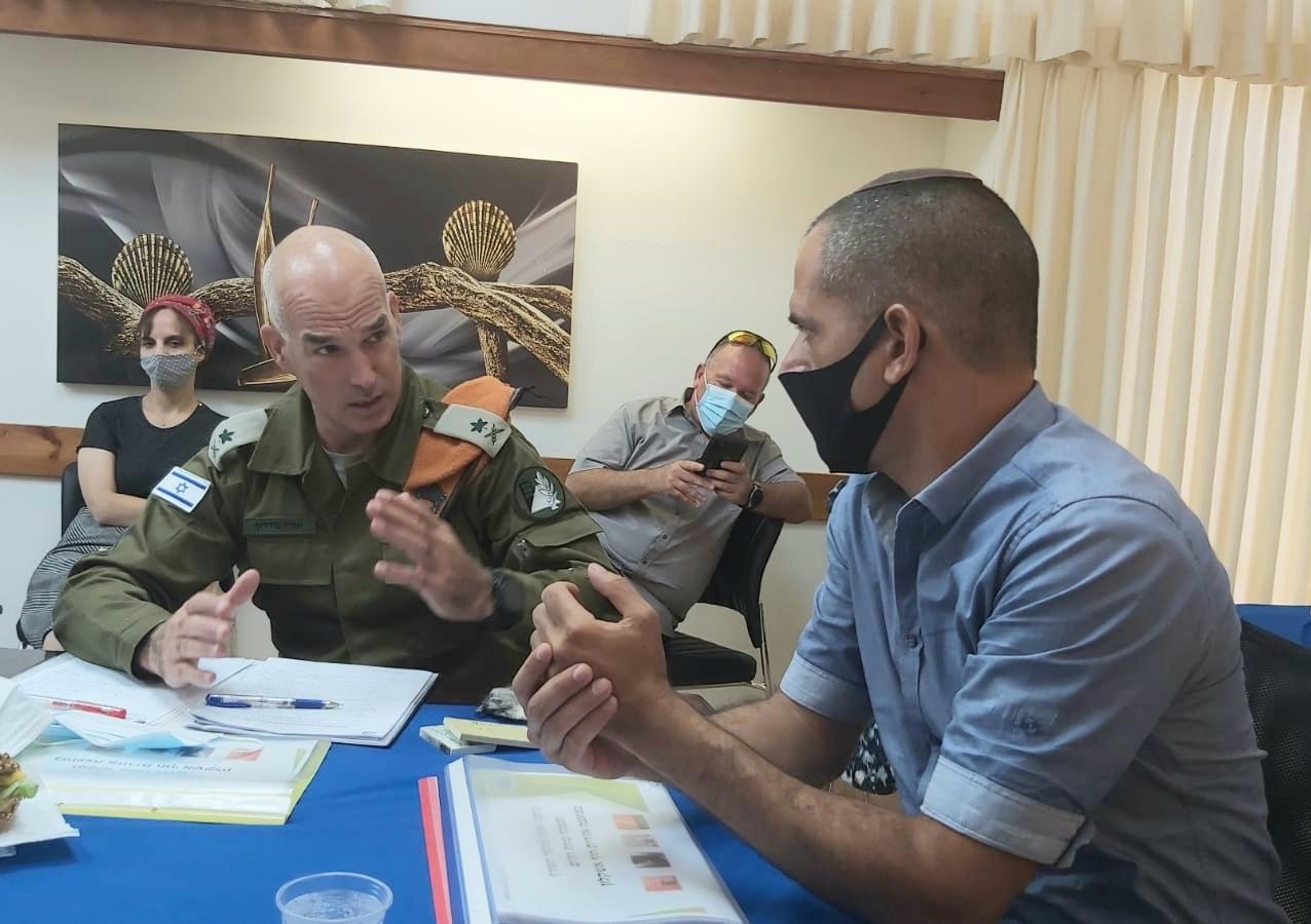 ביטחון וקורונה היו מרכז פגישת פיקוד העורף ומ.א. חוף אשקלון